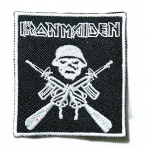 """Iron Maiden - Trooper Logo 4"""" Embroidered Patch"""