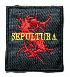 """Sepultura - Red Logo 2.5"""" Embroidered Patch"""