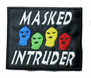 "Masked Intruder - Logo 4"" Embroidered Patch"