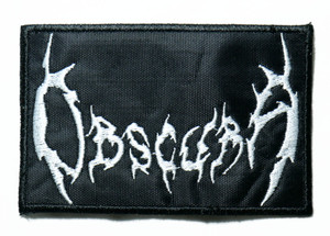 """Obscura - Logo 4"""" Embroidered Patch"""