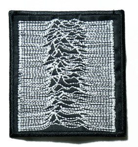 """Joy Division - Unknown Pleasures 3"""" Embroidered Patch"""