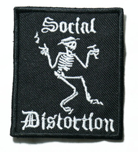 """Social Distortion - Logo 2.7"""" Embroidered Patch"""