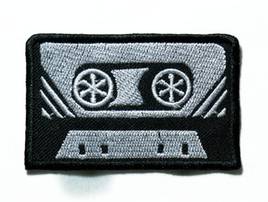 """Cassette Tape 3.5"""" Embroidered Patch"""