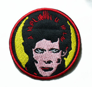 """Bowie - Face 3"""" Embroidered Patch"""