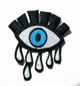 """Crying Eye 3"""" Embroidered Patch"""