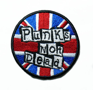 """Punks Not Dead 2.7"""" Embroidered Patch"""