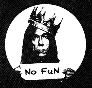"Iggy Pop - No Fun 4x4"" Printed Patch"