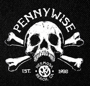 """Pennywise - EST. 1988 4x4"""" Printed Patch"""