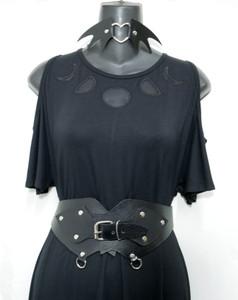 Black Leather Cincher Belt