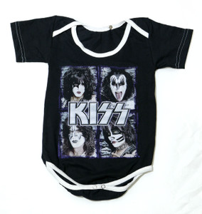 Baby Onesie - KISS Band Purple Outline