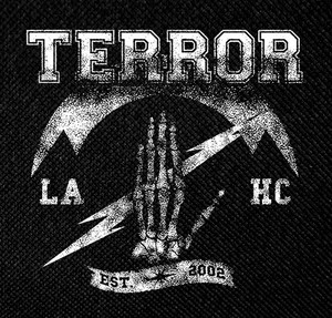 "Terror - Est. 2002 4x4"" Printed Patch"