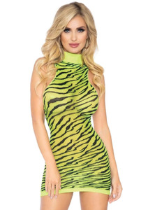 Neon Zebra Racerback Dress