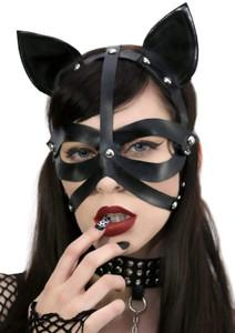 Cat Ears Bondage Face Mask