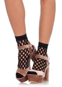 Oval FishNet Anklets Socks