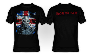 Iron Maiden - UK Flag T-Shirt
