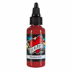 Mom's Ink Tattoo Ink Bottle .5oz - Monthly Red