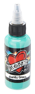 Mom's Ink Tattoo Ink Bottle .5oz - Gumby Green