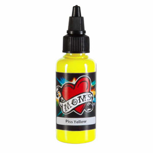 Mom's Ink Tattoo Ink Bottle .5oz - Piss Yellow