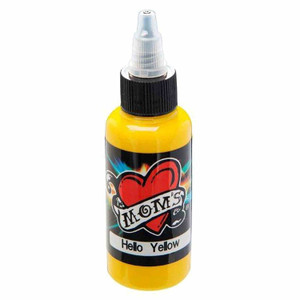 Mom's Ink Tattoo Ink Bottle .5oz - Hello Yellow