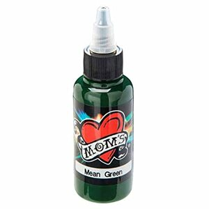 Mom's Ink Tattoo Ink Bottle .5oz - Mean Green