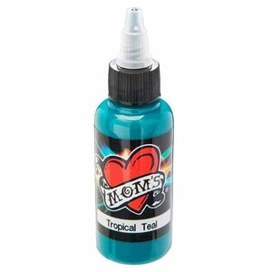 Mom's Ink Tattoo Ink Bottle .5oz - Tropical Teal
