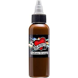 Mom's Ink Tattoo Ink Bottle .5oz - Indian Orange