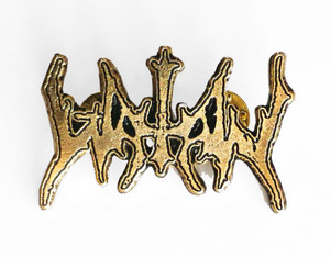 Watain - Gold Logo Metal Badge