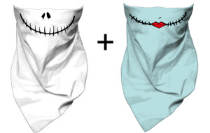 Jack and Sally Skellington - Mouth Guard Bandana Bundle