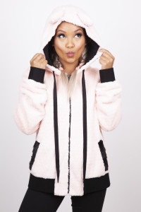Pink Faux Fur Cat Ear Jacket