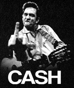 """Johhny Cash - Finger up! 12x14"""" Backpatch"""