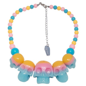 Skull Collection Rainbow Necklace