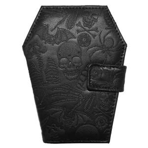 Embossed Skull Coffin Wallet