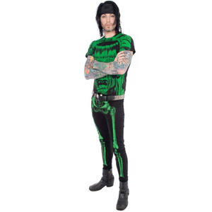 Skeleton Skinny Jeans Green Bone
