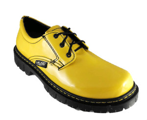 Yellow Patent Leather Oxford Shoe