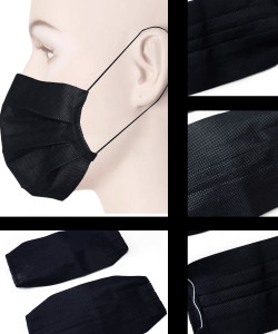 Pair Of Black Disposable Face Mask