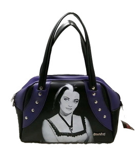 Lily Munster Purple Leather Handbag