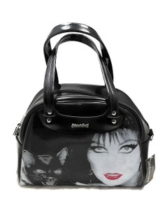 Elvira Black Patent Leather Handbag