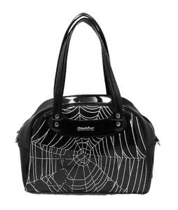 Black Spiderweb Handbag