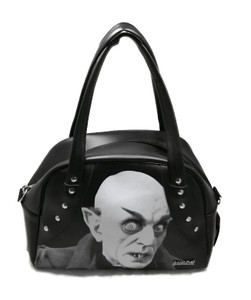 Nosferatu Black Leather Handbag