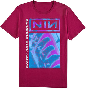 Nine Inch Nails Pretty Hate Machine MAGENTA T-Shirt *LIMITED EDITION*