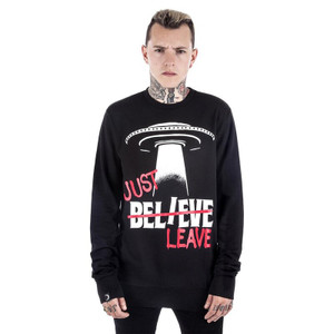 Black Be-Leave Sweatshirt