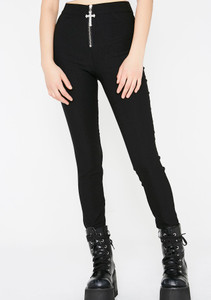 Ramona Black Trousers With Statement Cross