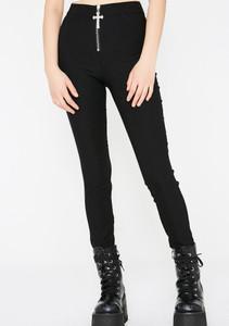 Ramona Black Trousers With Statement Cross