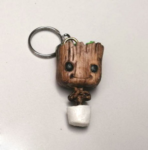 Potted Groot Keychain