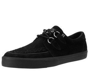 T.U.K. Shoes - A9178 Black Suede D-Ring VLK Sneaker