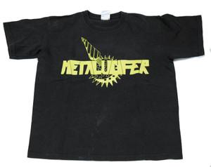 "Metalucifer Yellow Logo - T-Shirt Size M ""Misprinted"""