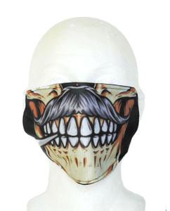 Mustache Skull Face Mask
