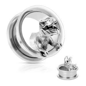 2x Dinosaur T-rex Flesh Tunnel Plug Ear Expansions