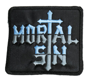 """Mortal Sin 3.5x3.5"""" Embroidered Patch"""