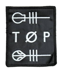 "Twenty One Pilots - TOP Logo 3.5x4"" Embroidered Patch"